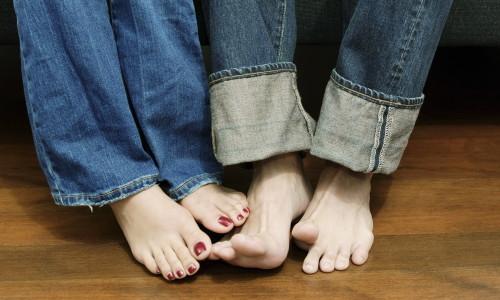 Корни грибка на ноге